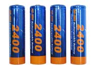 4 AA 2400mAh Ni-MH Rechargeable Battery